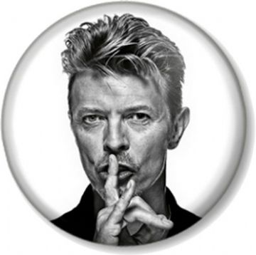 DAVID BOWIE BLACK AND WHITE IMAGE Pinback Button Badge Ziggy Stardust Music